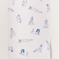 Naked Ladies Removable Wallpaper | Urban Outfitters