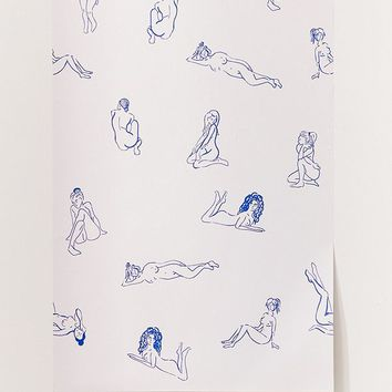 Naked Ladies Removable Wallpaper   Urban Outfitters