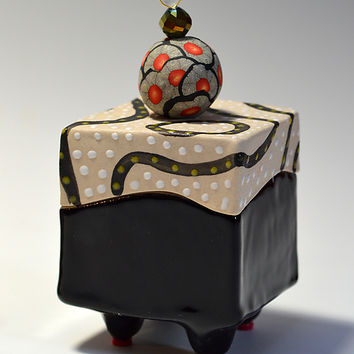 Blackline Halfsie Box by Vaughan Nelson (Ceramic Box) | Artful Home