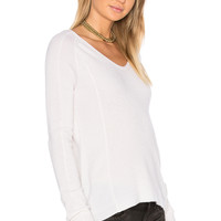 LEO & SAGE V Neck Sweater in Off White | REVOLVE