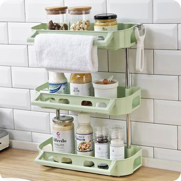 Vanzlife washbasin multilayer racks bathroom wall-mounted shower gel shelf bathroom shampoo trellis