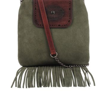 Most Wanted Fringe and Leather Crossbody