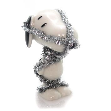Peanuts TOTALLY TINSELED SNOOPY Ceramic Christmas Dog 4044973