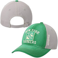 New York Rangers Reebok Adjustable Slouch Green Hat