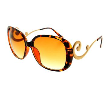 Swirl Arm Designer Style Womens Oversized Large Sunglasses O54