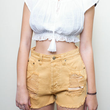 Beach Bum Ochre Slasher Shorts