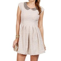 Madeline-Ivory Peter Pan Collar Dress