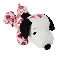 Hallmark Peanuts Snoopy Heart Print Floppy Stuffed Animal, 15""