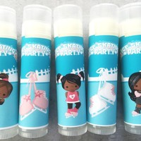 Ice Skating Custom Lip Balm | Ice Skating Birthday Favors | Free Customization