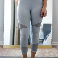 Mint Mesh High Waist Capri Legging