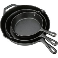 Ozark Trail 3 Piece Seasoned Oil Cast Iron Skillet Set - Walmart.com
