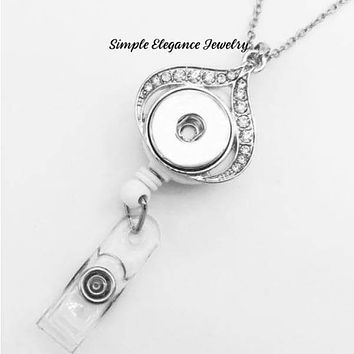 Retractable Necklace Snap Badge Holder 18mm-20mm
