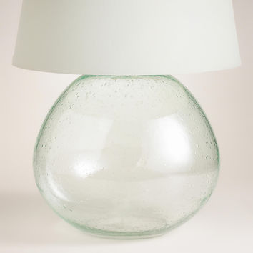 Green Glass Table Lamp Base - World Market