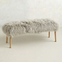 Luxe Fur Bench by Anthropologie