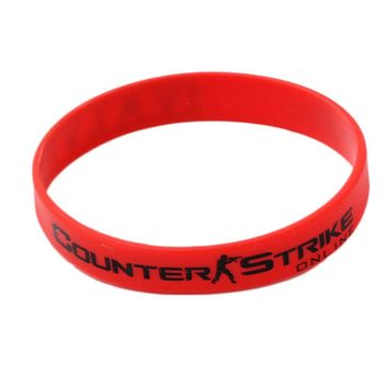 CSGO Counter Strike Braclet Red Yellow White Cross Fire Braslet For Male Game Play CS GO Silicone Rubber Diabetes Bracelets