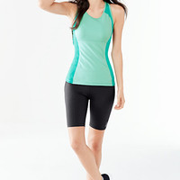 Women's Activewear Control Long Shorts from Lands' End