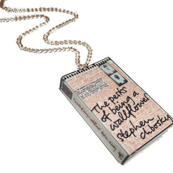 The Perks of Being a Wallflower Nekclace, Stephen Chbosky Jewelry, Miniature Book Necklace