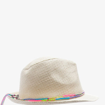 Technicolor Banded Fedora | FOREVER21 - 1037190161