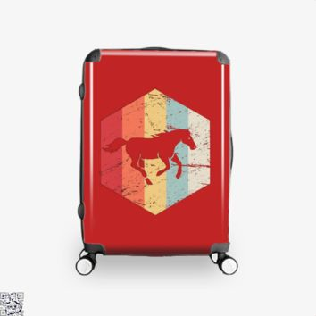 Retro Horse Horseback Riding Icon, Horse Suitcase