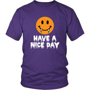 Have a Nice Day Happy Vampire Halloween T-Shirt