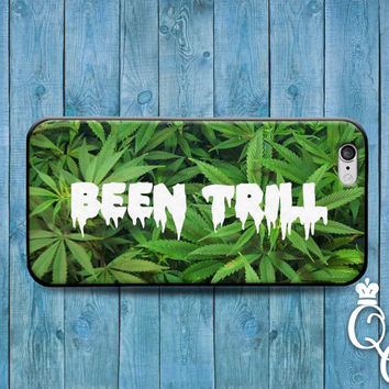 iPhone 4 4s 5 5s 5c 6 6s plus iPod Touch 4th 5th 6th Generation Cool Fun Been Trill Green 420 Swag Swerve Funny Phone Cover Cute Hip Case