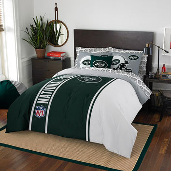 New York Jets NFL Full Comforter Bed in a Bag (Soft & Cozy) (76in x 86in)