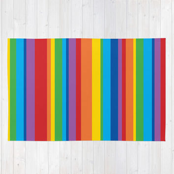 Rainbow Stripe Area Rug 2x3, Rainbow Stripe Floor Rugs 3x5, Rainbow Stripe Modern Rug 4x6