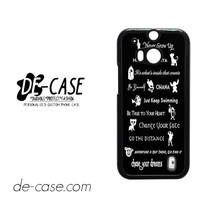 All Disney Quotes For HTC One M8 Case Phone Case Gift Present YO