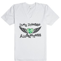 Liver Disease Awareness Fighter Wings Shirt