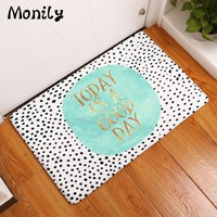 Monily Nordic Waterproof Anti-Slip Welcome Door Mat Sweet Letters Carpets Bedroom Rugs Decorative Stair Mats Home Decor Crafts
