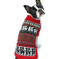 Crazy Llama Alpaca Dog Sweater