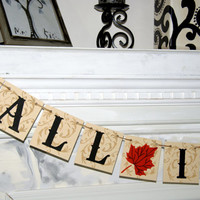 FALL IN LOVE - Fall Wedding Decoration Bridal Shower Decor - Autumn Wedding Garland Fall in Love Sign - Fall Wedding Banner