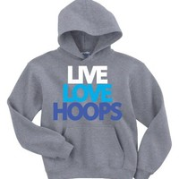 Live Love Hoops Hoodie-X-Large-Grey