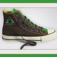 Custom Designed Firefly Serenity Browncoat Inspired Converse Sneakers, All Star High-Tops, Independent