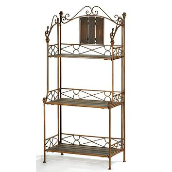 Rustic Baker`s Rack Shelf