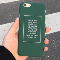 Green iPhone 5s 6 6s Plus Case Case Cover Gift 174