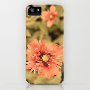 Salmon Opium Poppies iPhone & iPod Case by Brooke Ryan Photography