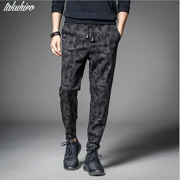 Men's Casual Leisure black camouflage military joggers slim fit pants men pantalons harem pants sweatpants men pantalon homme