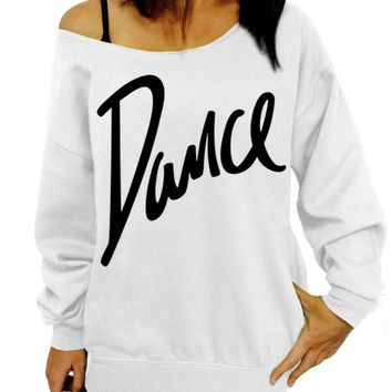 White DANCE Graphic Sweatshirt