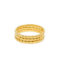 circle gold dipped multi circle rings, set of 3 - size 8 - Dogeared