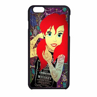 Ariel Little Mermaid Tattoo With Flower Cover iPhone 6 Case