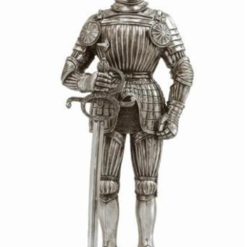 Medieval Knight with Sword Maximilian Medieval Armor Figurine 12.75H