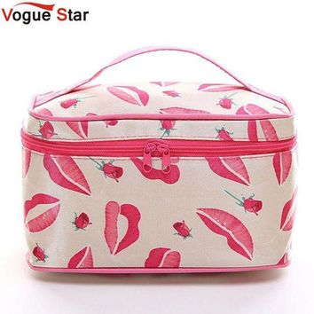 ac DCCKO2Q !New Portable Type Bag Zipper Cosmetic Storage Make up Bag Jewelry bag Handle Train Case Purse Toiletry Pouch YA40-100