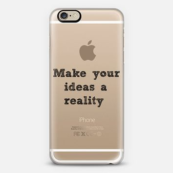 Make your ideas a reality - Back to school iPhone 6 case by Yasmina Baggili | Casetify