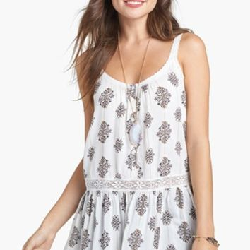 Rubbish® Lace Trim Tunic Tank (Juniors) | Nordstrom