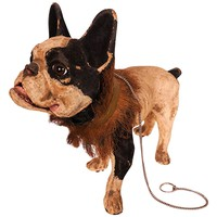 Roullet and Decamps French Bulldog 'Growler' Pull Toy