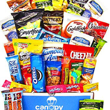 Ultimate Snacks Variety Box (50 Count) - Chips, Cookies, Candy Assortment Bundle Gift Pack - College Care Package