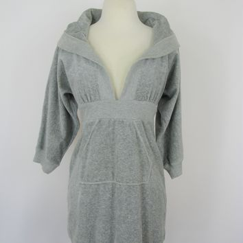 Juicy Couture Velour Hooded Long Pocket Tunic P