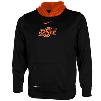 Oklahoma State Cowboys Nike Youth Performance Pullover Hoodie – Black - http://www.shareasale.com/m-pr.cfm?merchantID=7124&userID=1042934&productID=548704998 / Oklahoma State Cowboys
