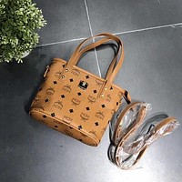MCM Women Shopping Bag Leather Satchel Crossbody Handbag Shoulder Bag